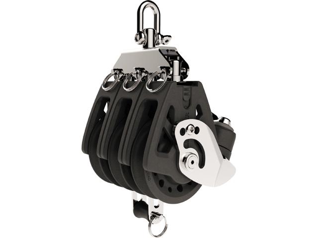 Lewmar Synchro Block 3-scheibig mit Hundsfott und Klemme (verschiedene Größen)
