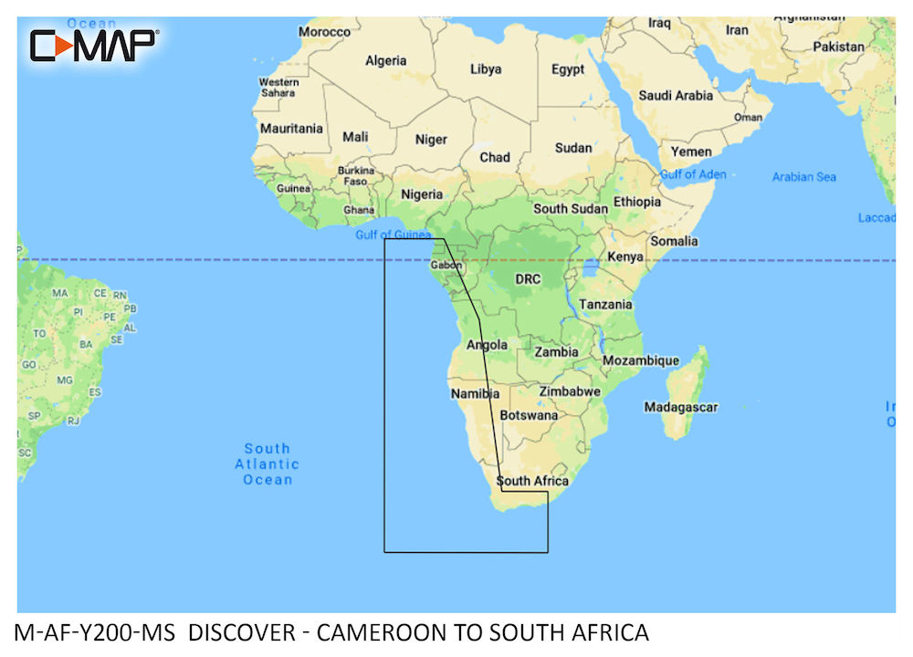 C-MAP DISCOVER:  M-AF-Y200-MS  Cameroon to South Africa