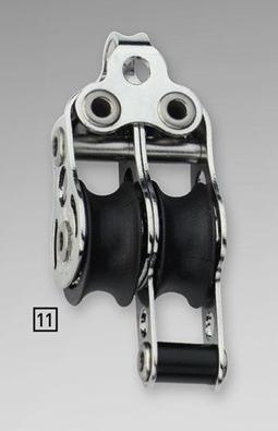 Sprenger 6mm Micro XS Block doppelt mit Hundsfott und Bügel
