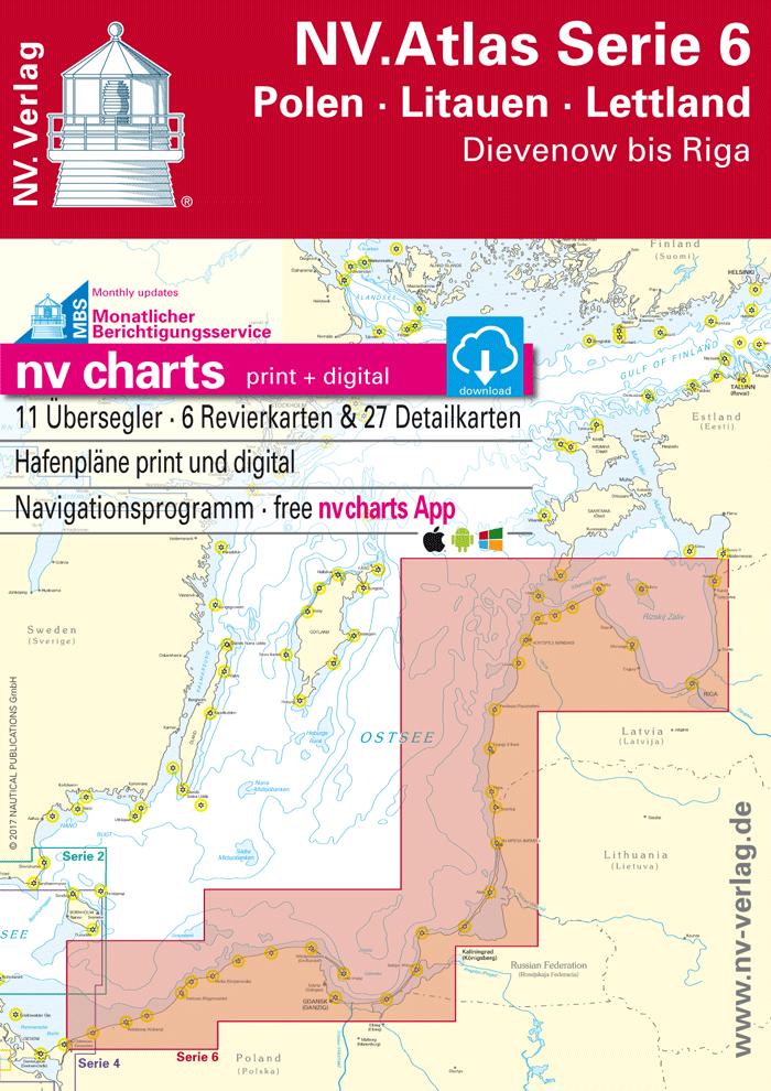 NV Kombipack Atlas Serie 6 - Polen - Litauen - Lettland