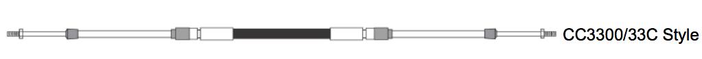 Seastar CC330 Motor Fernbediezug extra stark Niro Endfittings (versch. Längen)