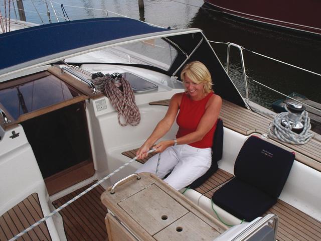 Talamex Boat Sit Comfort ergonomisches Sitzkissen mit Rückenlehne