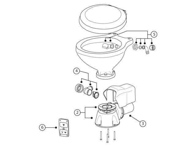 Albin marine Ersatzteile einzeln Bordtoilette komfort elektr.