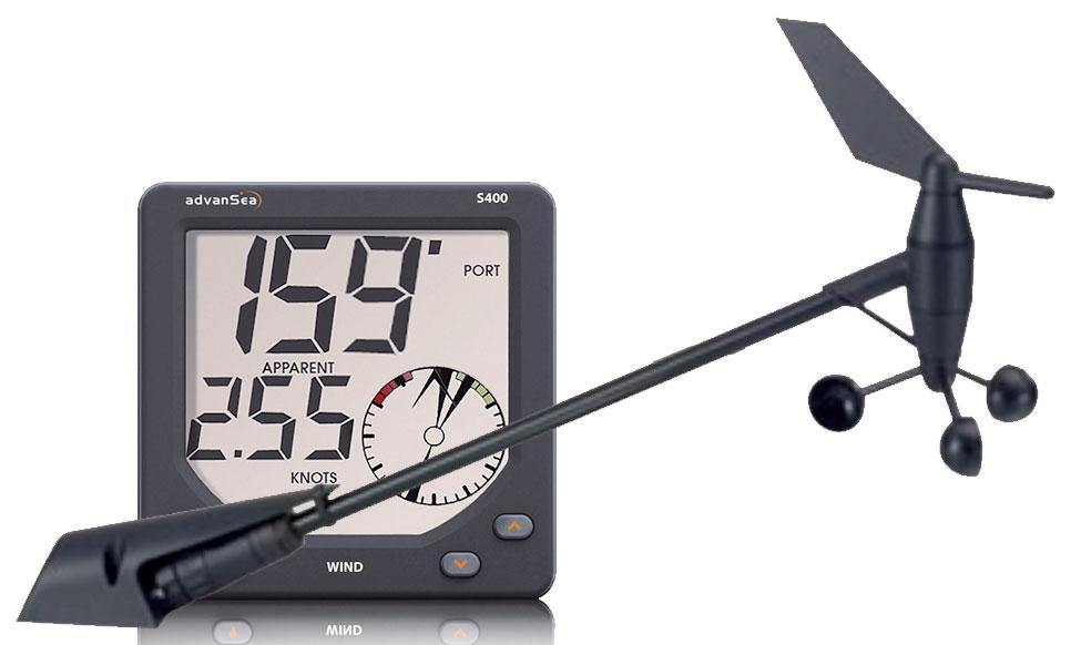 AdvanSea S400 WIND Digital Set mit Anzeige, Masttopgeber und Kabel