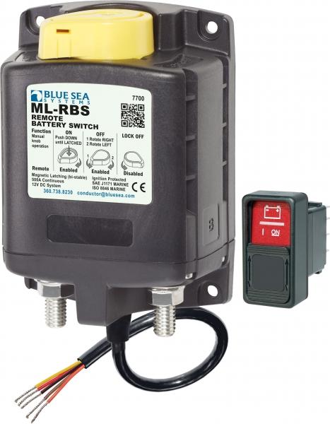 Blue Sea BS 7700 ML RBS Batteriefernschalter mit manueller Steuerung 12VDC, 500A