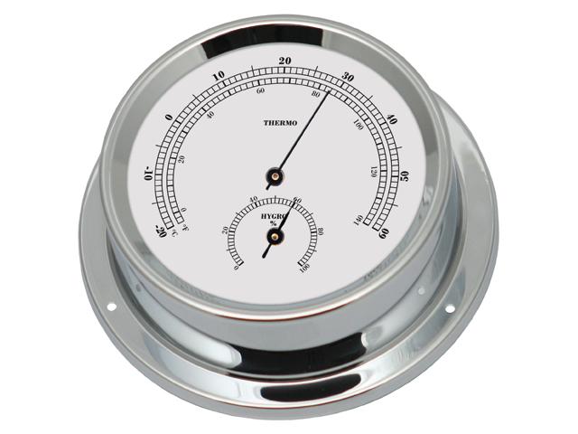 Talamex Serie 125 Messing verchromt Thermo- Hygrometer