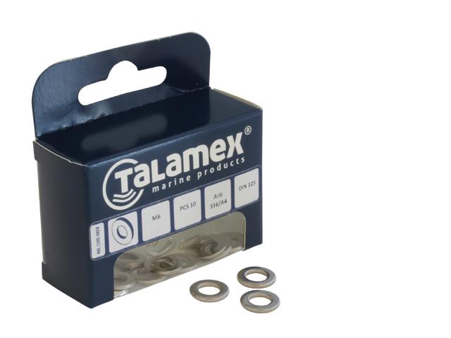 Talamex Edelstahl Unterlegscheibe DIN125 (versch. Größen)