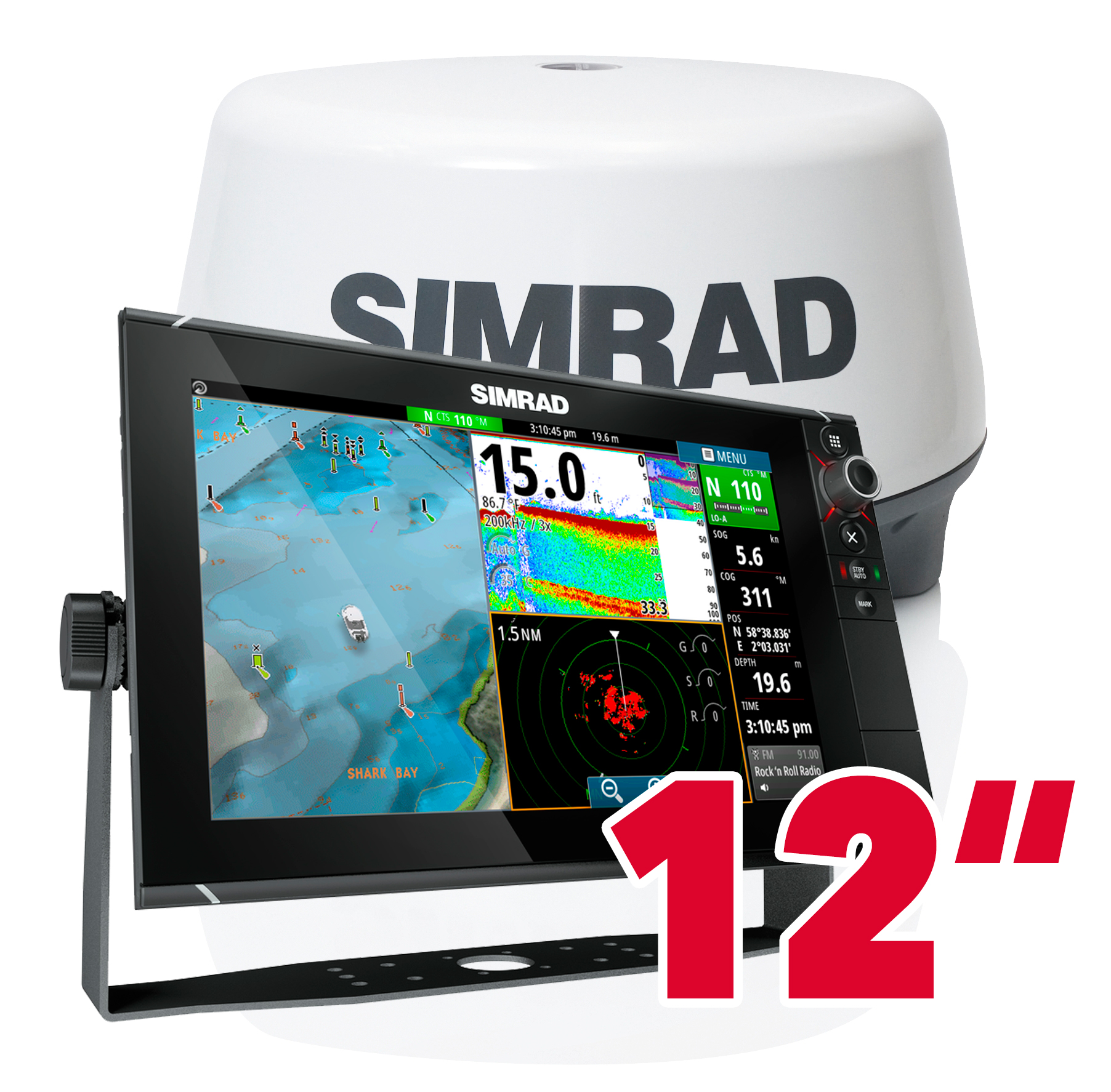 Simrad NSS12 evo2 GPS Kartenplotter Multifunktionsdisplay Radar 3G Bundle