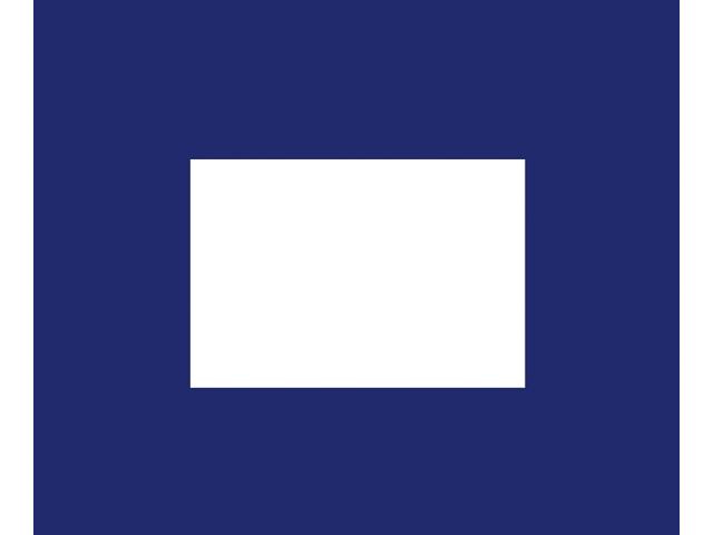 Talamex Buchstabenwimpel Abm. 30 x 36 cm Signalflagge P