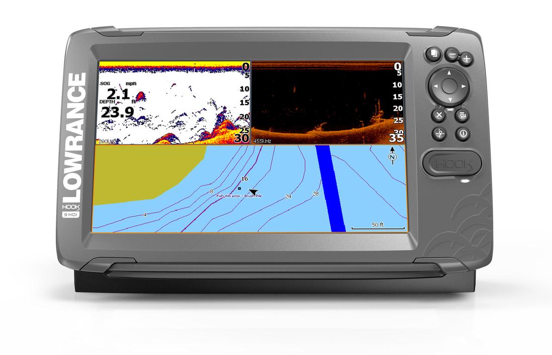 Lowrance Hook2-9 SplitShot GPS Combo Echolot Front