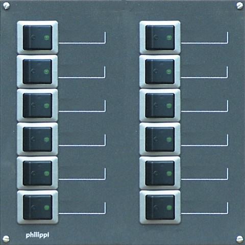 Philippi STV 212 zweipolig für 12 Stromkreise