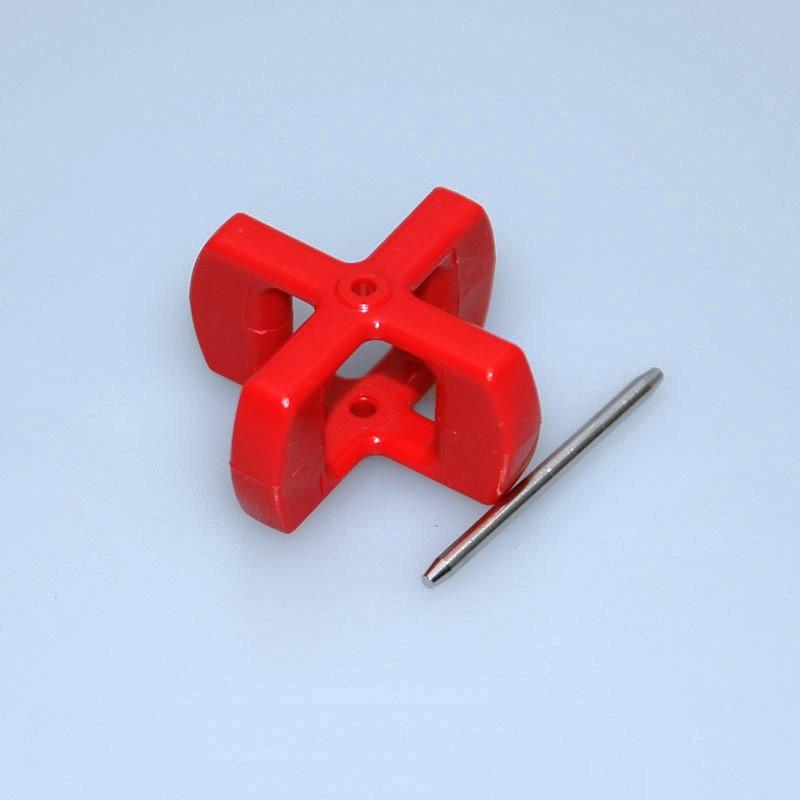 Nexus Paddelrad Rot mit Achsen bis 30 Knoten