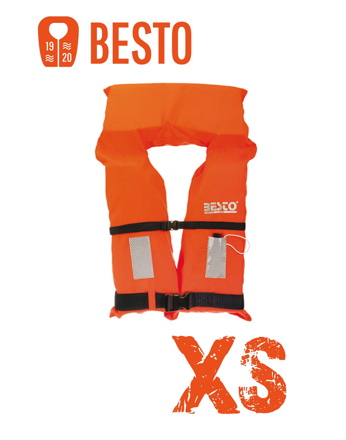 Besto Rettungsweste Orange 100N in Größe: XS
