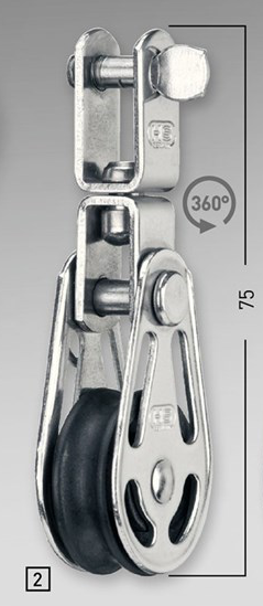Sprenger 6mm Gleitlagerblock einfach mit Wirbel
