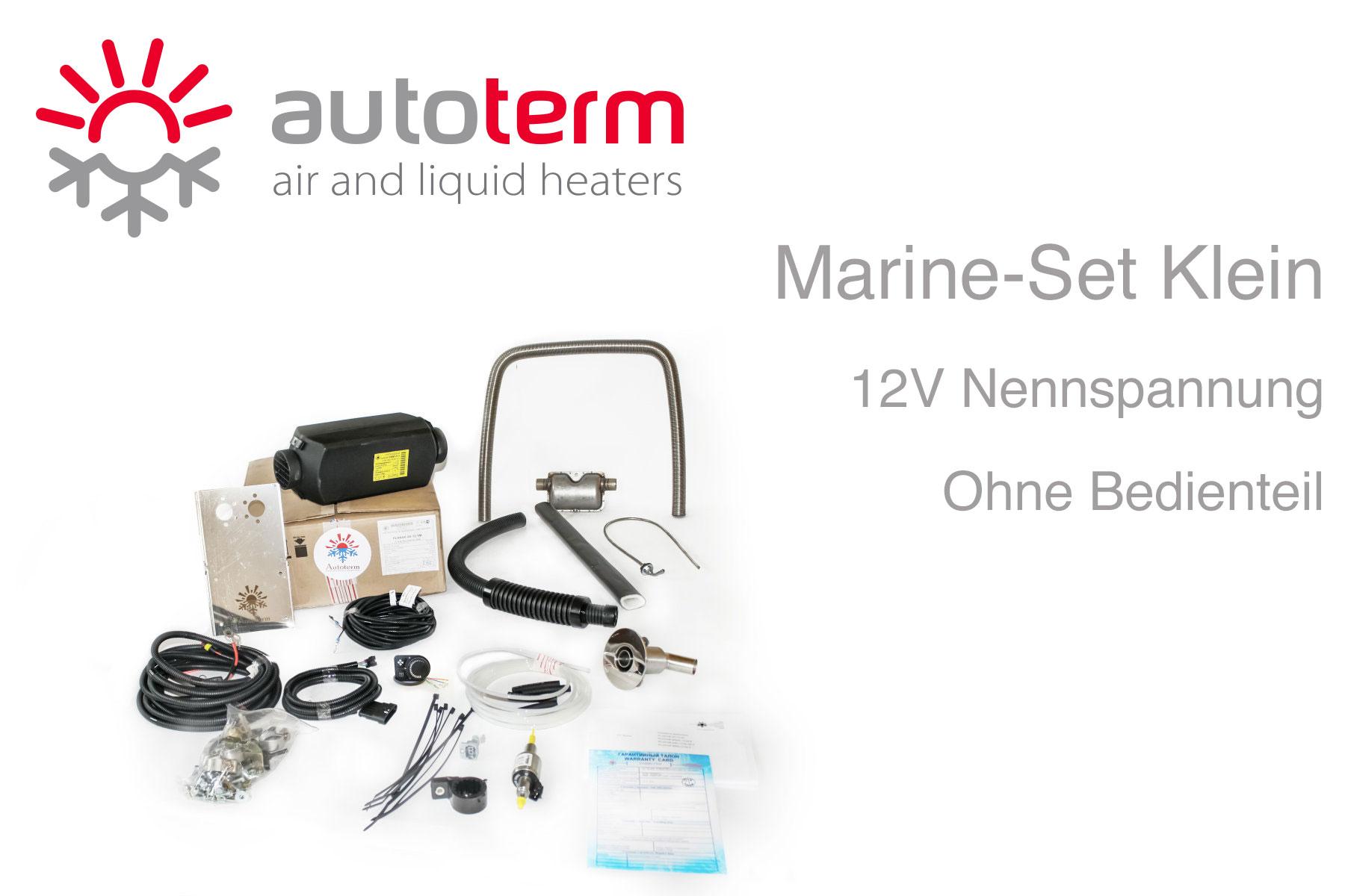 Autoterm Air 2D Diesel Warmluftheizung Marine Set klein, 12V, ohne Bedienteil