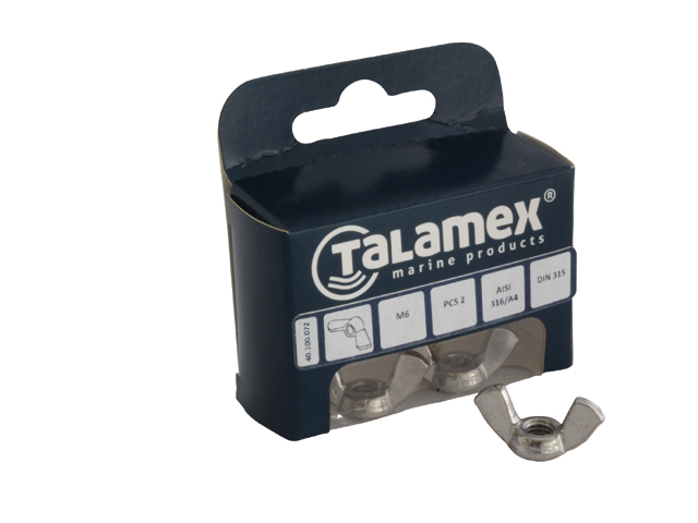 Talamex Edelstahl Flügelmutter DIN315 (versch. Größen)