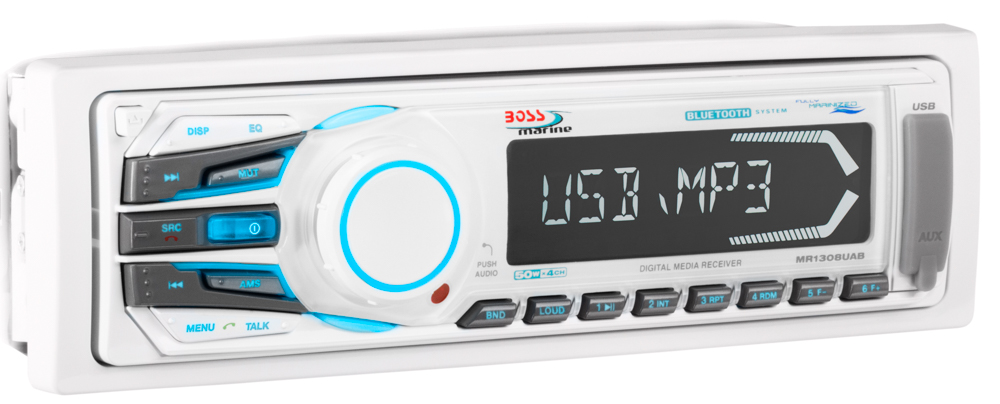 Boss Marine Audio Radio 1308UAB (weiß)