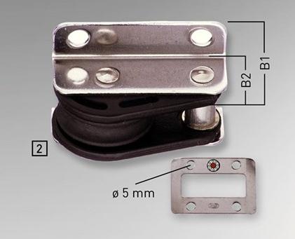 Sprenger 12mm Einlassblock einfach Kunststoff, Edelstahl rostfrei