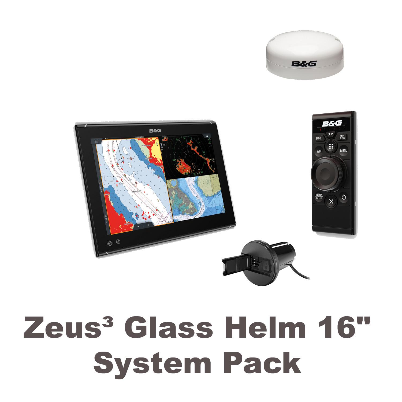 "B&G Zeus3 Glass Helm 16"" System Paket"
