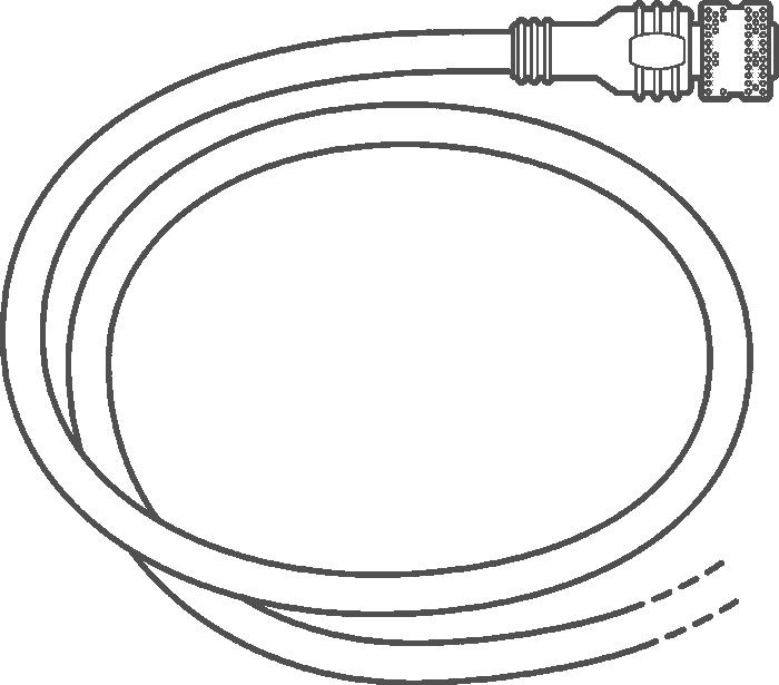Zipwake M12 Kabel (verschiedene Ausführungen)