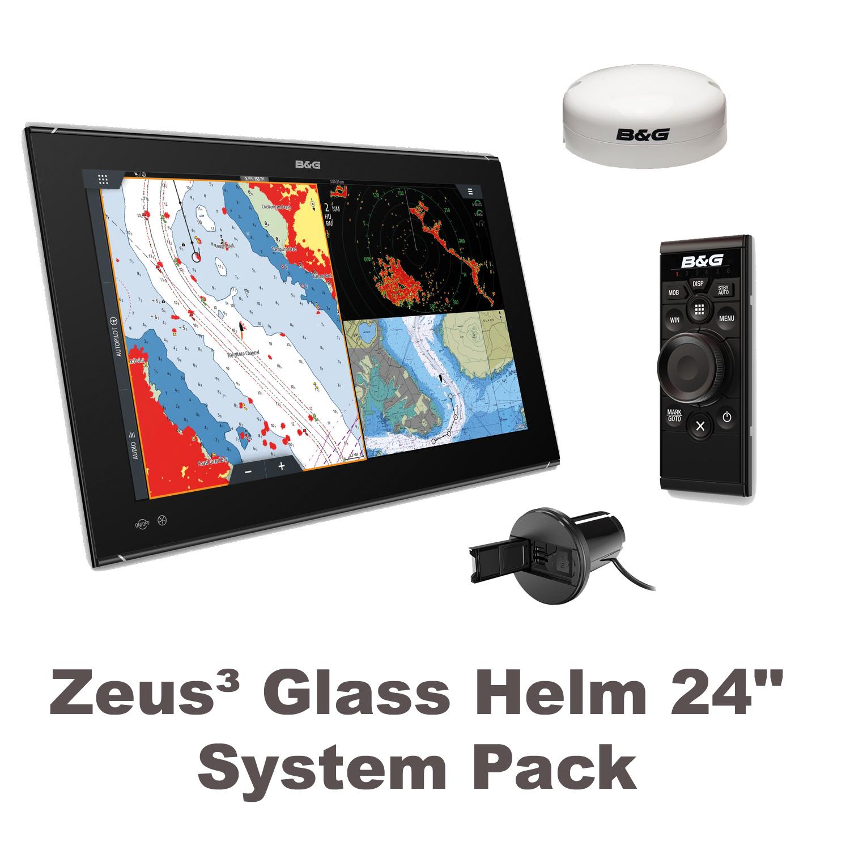"B&G Zeus3 Glass Helm 24"" System Paket"