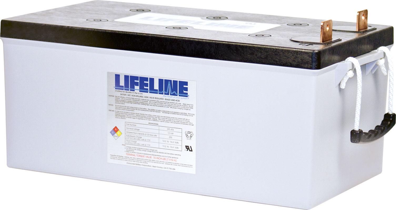 Lifeline GPL-8DL AGM Batterie 255 Ah