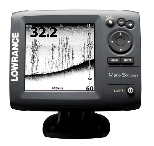 Lowrance Mark-5x DSI Action Pack Fischfinder mit Geber, Akku und Ladegerät