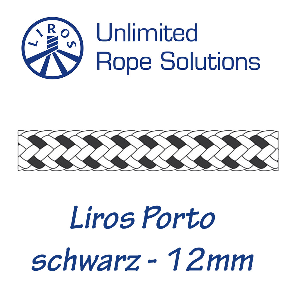 Liros Porto weiß/schwarz 12mm