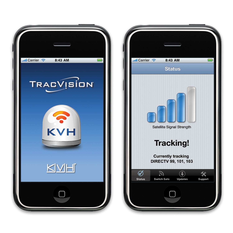 KVH TracVision TV6 mit IP-TV-Hub B & autom. Skew-Einstellungen
