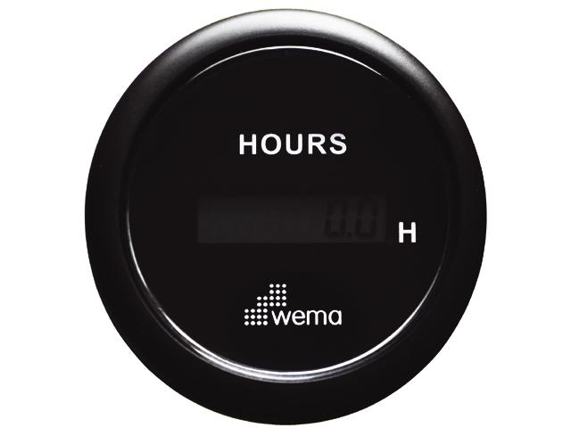 Wema Betriebsstundenzähler schwarz