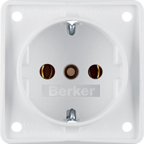 Berker Schuko Steckdose Integro Design Flow polarweiß