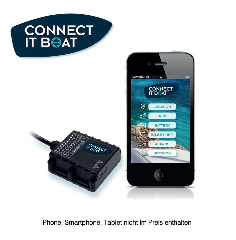 Connect it boat GPS GSM Tracker für Boot, PKW, LKW, Wohnmobil, Caravan