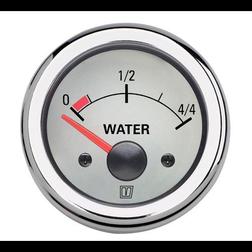 Vetus Wasservorratsanzeige 24V 52mm Ø weiß