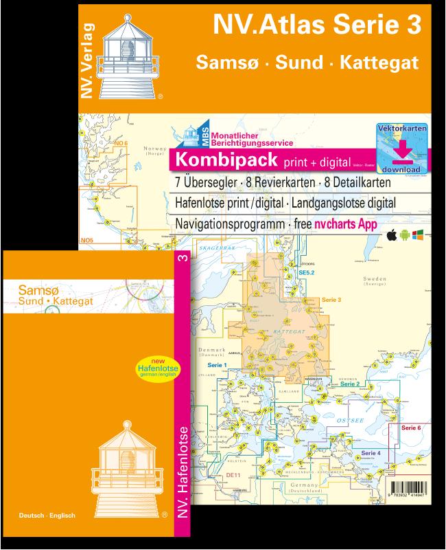 NV Kombipack Atlas Serie 3 Samsø - Sund - Kattegat