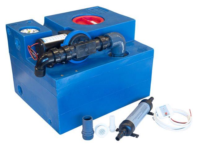 Albin Abwassertank System mit Diaphragmapumpe 47l