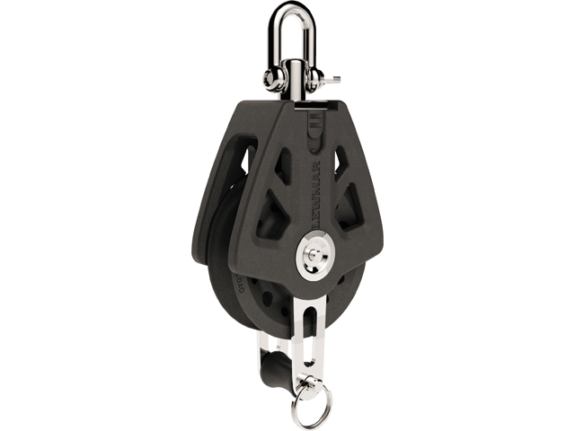 Lewmar Synchro Block 1-scheibig mit Hundsfott (verschiedene Größen)