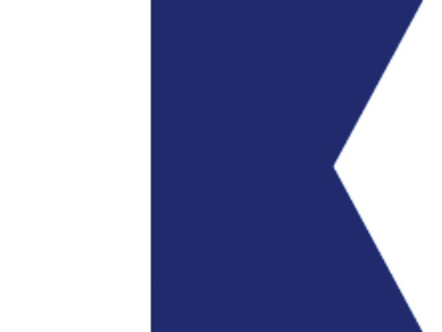Talamex Buchstabenwimpel Abm. 30 x 36 cm Signalflagge A