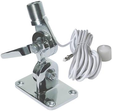 Navico Edelstahl 4-Wege Antennenkippfuß mit QuickFit System und 5m Kabel