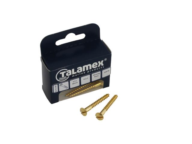 Talamex Messing Linsensenk-Holzschraube mit Schlitz DIN95 (versch. Größen)