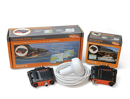 em-trak B100 und S100 AIS Transceiver Senden/Empfangen Sailor