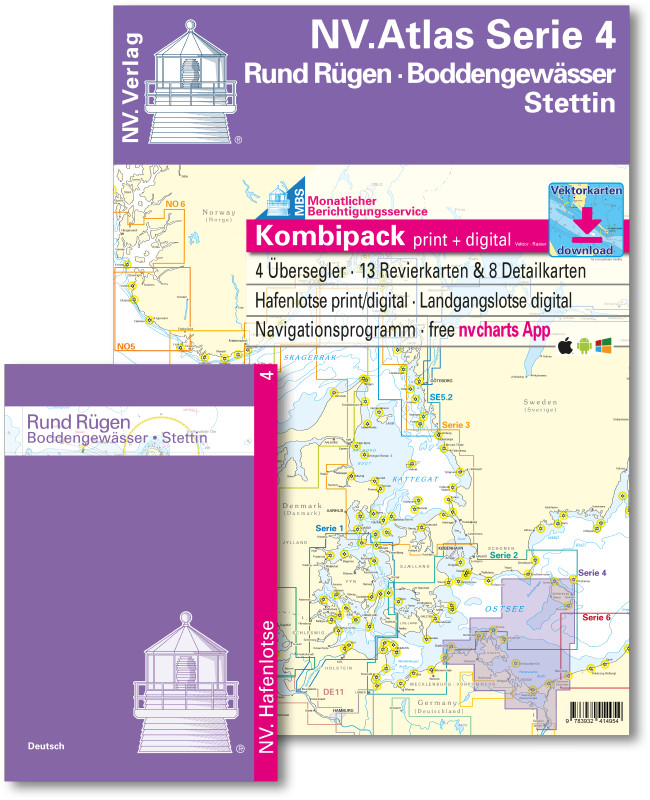 NV Kombipack Atlas Serie 4 Rund Rügen - Boddengewässer - Stettin
