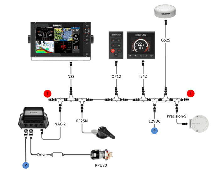 Simrad OP12 Autopilot Controller Netzwerk