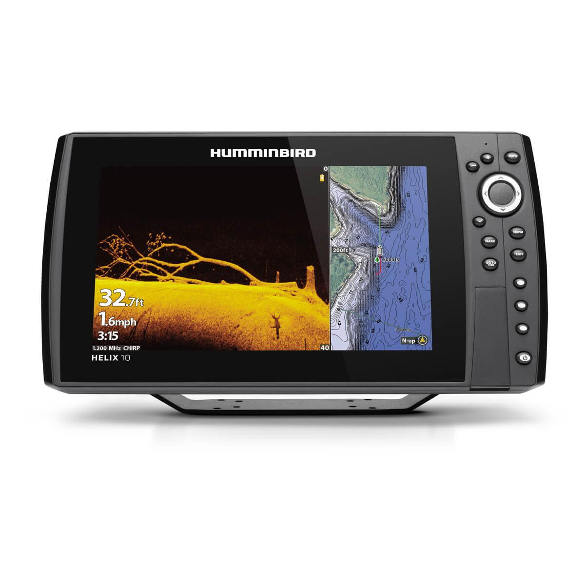 Humminbird HELIX 10 CHIRP MEGA DI + GPS G3N mit Geber XM-9-HW-MDI-T