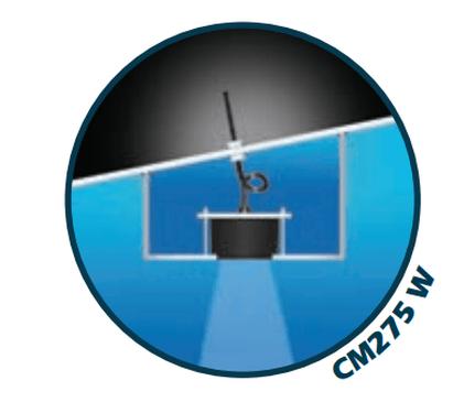 Airmar CM275LH-W Inneneinbaugeber Kunststoff X-Sonic 9-Pin Anschluss