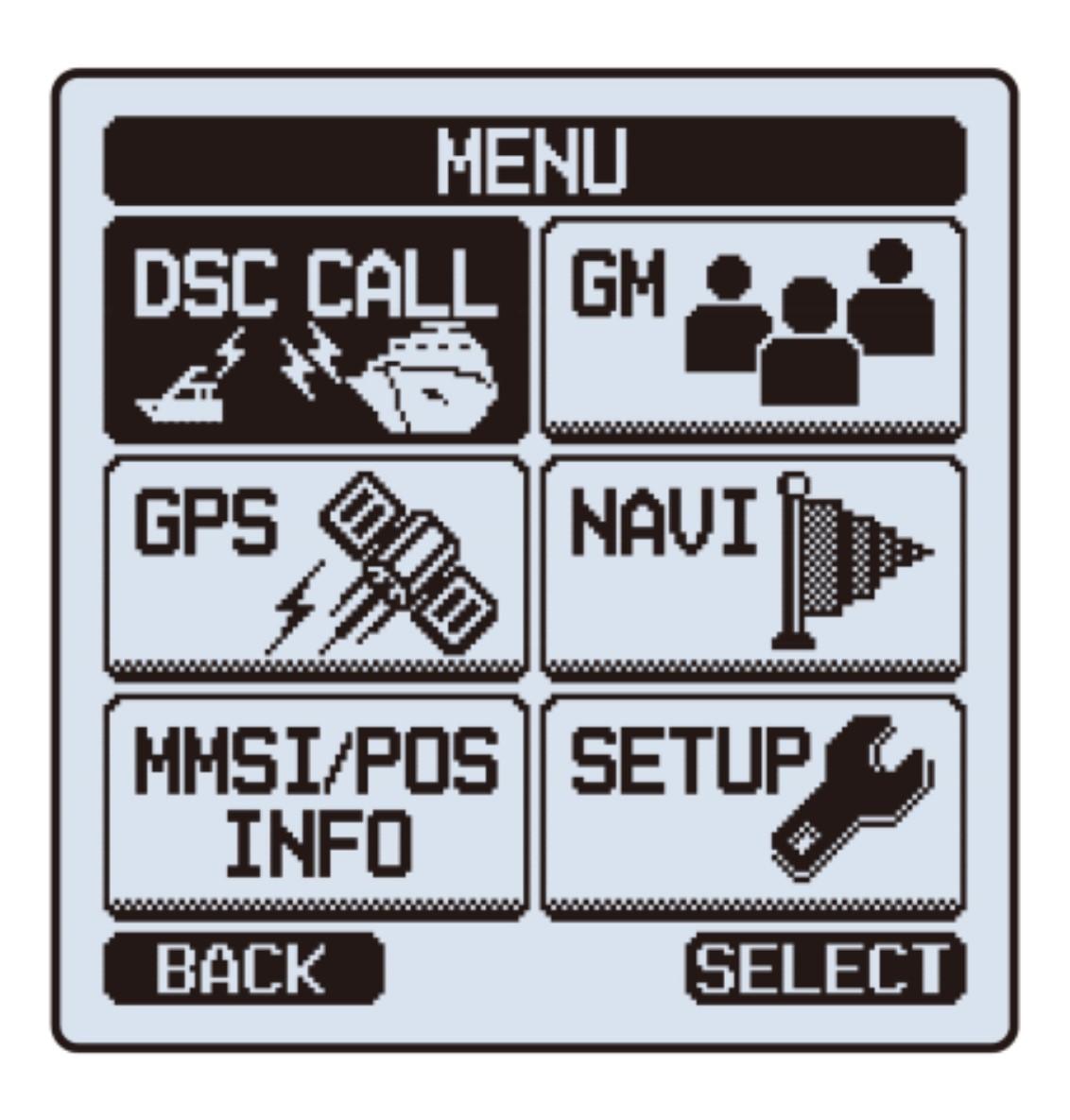 Standard Horizon HX870E Handfunkgerät mit integriertem GPS Menu
