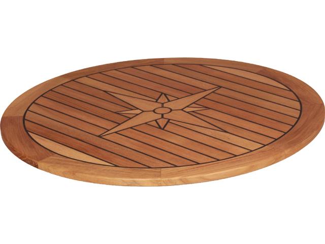 Talamex Tischplatte Teak Rund Durchmesser 65cm