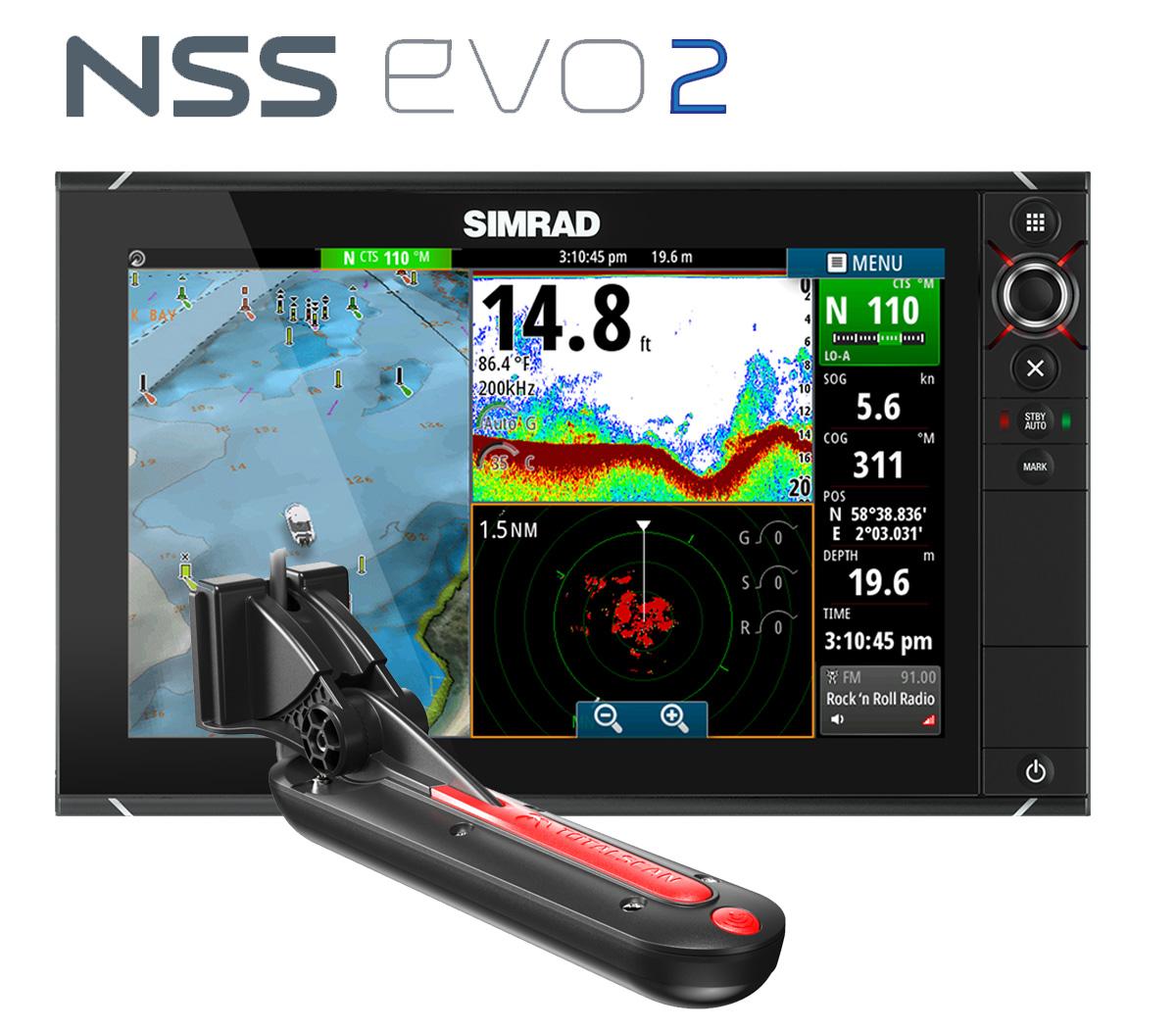 Simrad NSS12 DownScan StrukturScan SideScan DownVision SideVision Bundle
