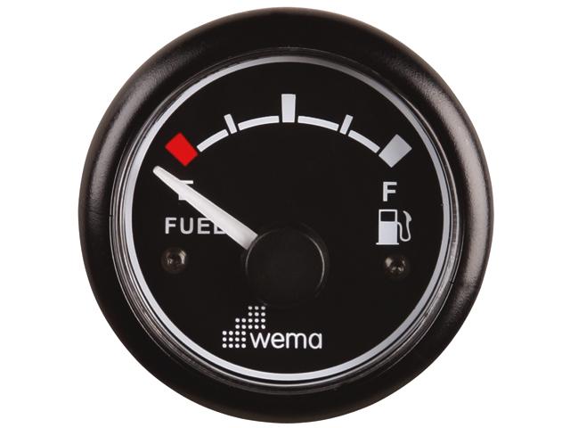 Wema Tankanzeige Kraftstoff schwarz