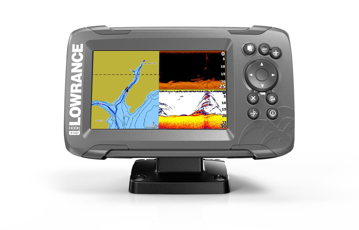 Lowrance Hook2-5 TripleShot GPS Chirp Combo Echolot