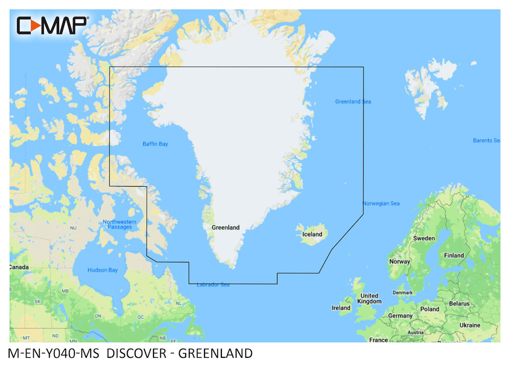 C-MAP DISCOVER:  M-EN-Y040-MS  Greenland